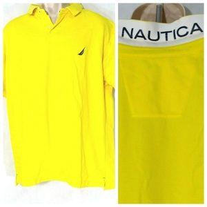 Nautica Performance Deck Shirt Pique Polo Size L